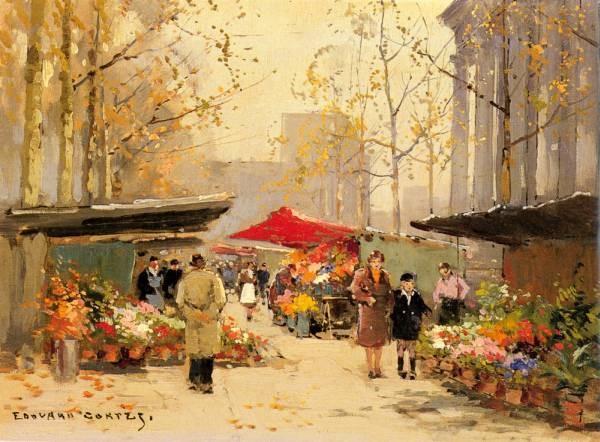 Flower Stalls By The Madeleine